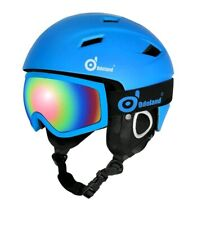 Odoland Snow Ski Helmet and Goggles Set for Kids and Adult Sports x small size
