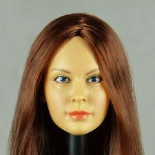 1/6 Scale Hot Toys, Phicen, Custom Kumik Red Hair Female Head Sculpt K059 Chloe