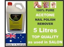 5 Litres, ACETONE 100% PURE, NAIL POLISH REMOVER, PAINT/GEL REMOVER