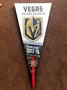 VEGAS GOLDEN KNIGHTS INAUGURAL 2017-18 TEAM SIGNED AUTO CANVAS BANNER FLEURY