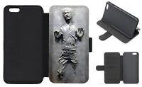 CARBONITE HAN SOLO STAR WAR Wallet Flip Phone Case iPhone 4 5 6 7 8 X Galaxy (F)