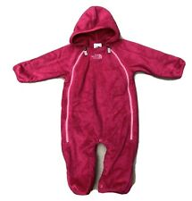 North Face Fleece Baby Bunting One Piece Snowsuit in Pink 3-6 Months