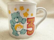 Vintage Care Bears Letter 3 Birthday Childs Mug Cup 1985 Wish Bear Stoneware