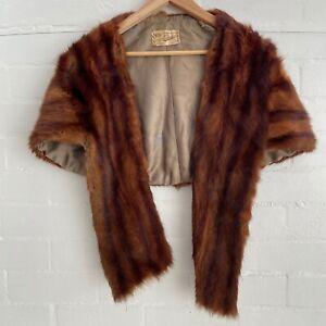 New York Paris Eunice FUR Shawl Coat Evening COLLECTABLE Vintage