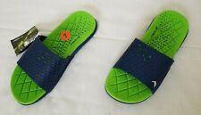 Mens Size 7 Blue Green Rider 82209 Infinity S Sport Cushion Slide Sandals
