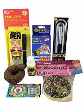 Office Prank Kit - Shock Pen Stapler Fake Poop Lotto Ticket Prank Joke Gag