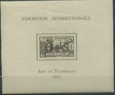 French Colonies, Cote d'Ivoire, Ivory Coast 1937 Michel block 1 MH*