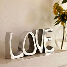 Placas y señales decorativas de color principal plata para el hogar