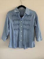 Women's Foxcroft Shirt Blouse 3/4 Sleeve Wrinkle Free Size 6 Petite 6P Shaped