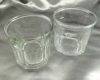 Luminarc 500 Glass Tumblers 10 Panel 12oz Vintage Made in France ~ Set of 2