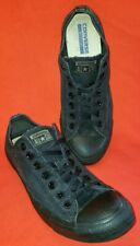 Converse All Stars Boston Men's Sneakers Size 10M Black Canvas Red Stripe Soles