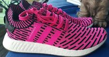 ADiDAS Men size 13 Shoes BOOST hot pink black stripe fabric athletic New NWOB