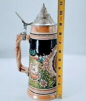 Vintage GERMAN Lidded Beer Stein University of California. Western GERMANY.