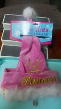 Pink faux fur Princess Christmas Santa Hat Made By Kool Kids-Adjustable