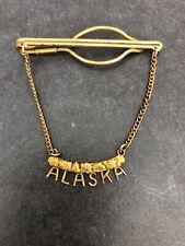 Vintage 10k 1940's Gold Rush Nuggets ALASKA Custom Tie Clasp