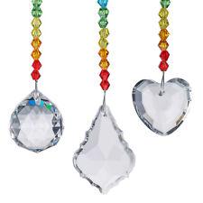 3PCS Window Rainbow Handmade Suncatcher Chakra Crystal Prisms Pendant Home Decor