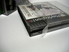 3 Clear Dual CD Game Box Jewel Case Protectors Playstation, Dreamcast, PS1
