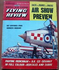 VINTAGE RAF FLYING REVIEW JULY 1963 D.H. 125 CUTAWAY,AIR SHOW PREVIEW