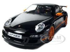 PORSCHE 911 (997) GT3 RS BLACK 1:12 DIECAST MODEL CAR BY AUTOART 12116