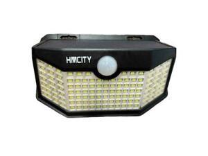 HMCITY Solar Lights Outdoor 120 LED with Lights Reflector Motion Sensor   2 Pack