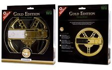 NEW SEALED GOLD EDITION RACING WHEEL FOR WII OR WII U by dreamGEAR