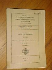 Geology, Geography, Archaeology of Georgia 1953, gold deposits, floods, etc.