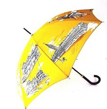 J-1612104 New Burberry Prorsum Cornflower Yellow Umbrella with Case