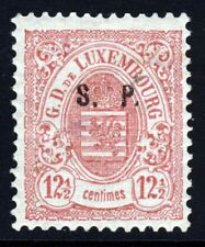 LUXEMBOURG 1881 12½c. ROSE OVERPRINTED S.P. Perf 13 HAARLEM PRINTING SG O47 MINT