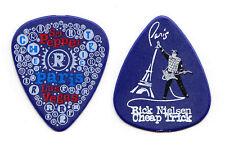 Cheap Trick Rick Nielsen Paris Las Vegas Blue Guitar Pick #2 - 2010 Tour