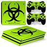 Playstation 4 PS4 Pro Skin Vinyl Design Folie Aufkleber Schutz Sticker BIOHAZARD
