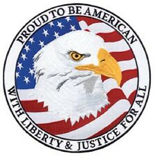"""PATCH """"PROUD TO BE AMERICAN with Liberty and Justice for All"""" -12"""""""