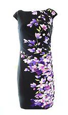 2027-1 Lauren Ralph Lauren Women's Floral-Print Sheath Dress black 16 $144