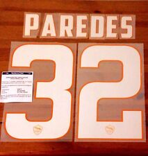 2014-15 AS Roma Home Shirt PAREDES#32 OFFICIAL StilScreen Name Number Set