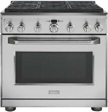 Monogram 36in Gas Pro Range 6 Sealed Burners - Zgp366Nrss