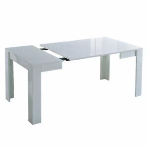 MF Tavolo da Pranzo Allungabile Idea Bianco Laccato Lucido, 90 x 90 x h. 77 cm