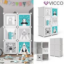 VICCO Kleiderschrank Kinder Regal DIY modular 6 Fächer Kleiderstange Steckregal