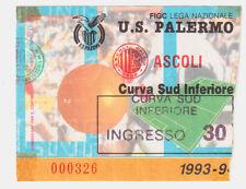 54211 Biglietto stadio - Palermo Ascoli - 1993/1994