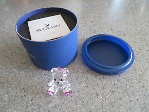 SWAROVSKI Kris Bear, Sweetheart #5301571~adorable little girl w/pink hearts MIB