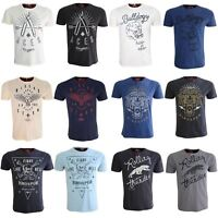 Ringspun Embroided Mens T Shirt Cotton Casual Short Sleeve Tee