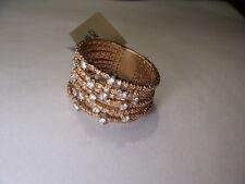 Magnificent Estate 18K Pink Rose Gold Diamond Wide Wedding Band Ring