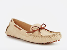 JustFab Womens UK 5 Sand Brown Faux Suede Driving Moccasins Shoes FREE POSTAGE