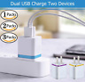 Lot USB Dual Ports Wall Charger Plug Adapter 1A 2A 5V For Android & iPhone