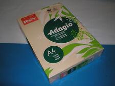 500 Bl. Kopierpapier sand crema REY Adagio A4 80g matt 70 % PEFC farbig NEU&OVP