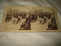 Underwood Stereoview Driving on the Grand Boulevard Chicago JF Jarvis 1894