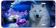 CUSTOM PERSONALIZED LICENSE PLATE NIGHT WOLF AUTO TAG