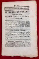 Arleux en 1801 Nord Arras Napoléon Delanoy Fouquay Feuille de Douai Empire