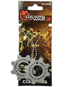 """Neca Pendants """"Gears of War"""" Metal COG Tags"""