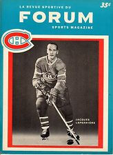 1965 (Jan.27)  Hockey Program, Chicago Blackhawks @ Montreal Canadiens ~ VG