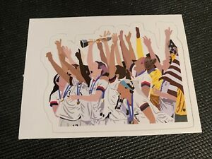 """US Womens Soccer World Cup Decal Sticker 3.9"""" x 3"""" USA Free Shipping 2019 Fifa"""