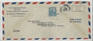 Venezuela: Diplomatic cover to USA, consulate in La Guayra, Airgram,... VS0068
